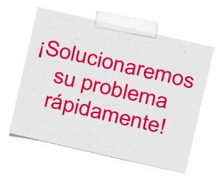 solucionaremos su problema rápidamente